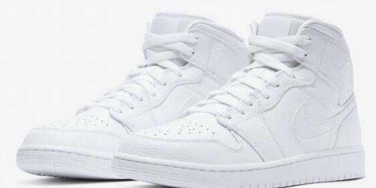 Jordan 1 Mid Chalk White 554724-130 Very Nice and Affordable :)