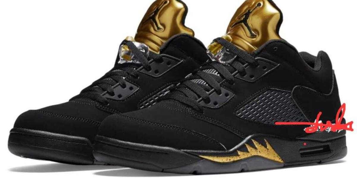New Air Jordan 5 Low Black Metallic Gold Set To Debut In May